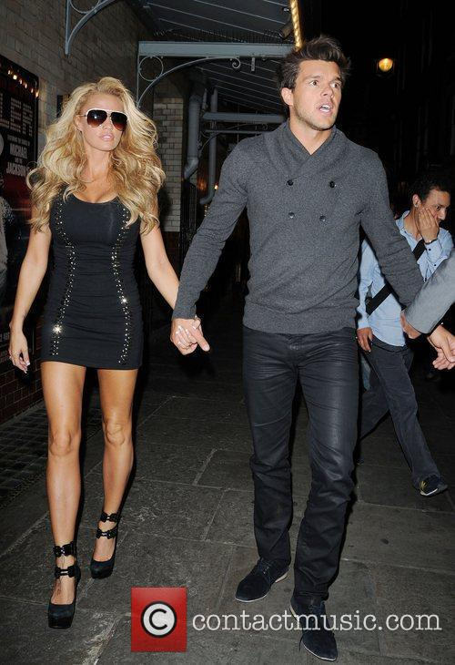 Katie Price leaves J Sheekey restaurant with Leandro...