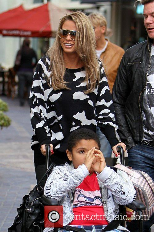 Katie Price and son Harvey Katie Price shopping...