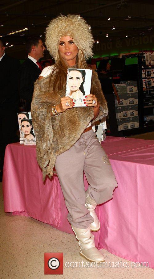 Katie Price aka Jordan signing copies of her...