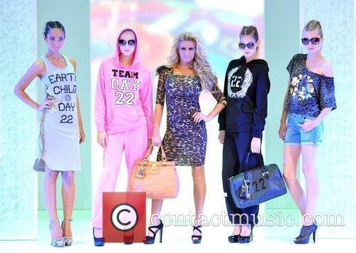 Katie Price and Models Katie Price presents the...