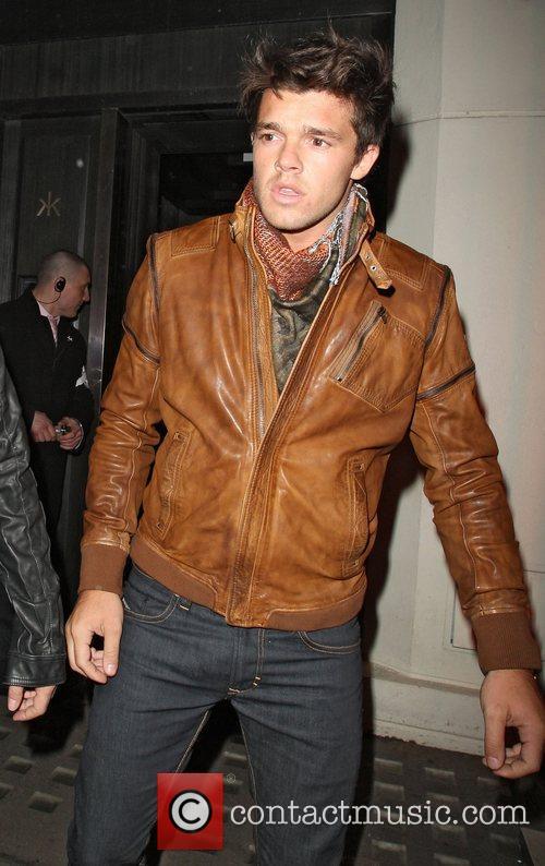 Argentinian model Leandro Penna leaving Hakkasan Mayfair