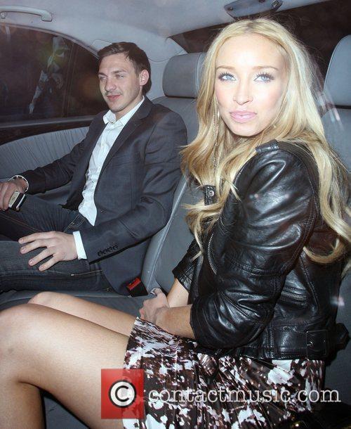Lauren Pope and Kirk Norcross leaving Whisky Mist...