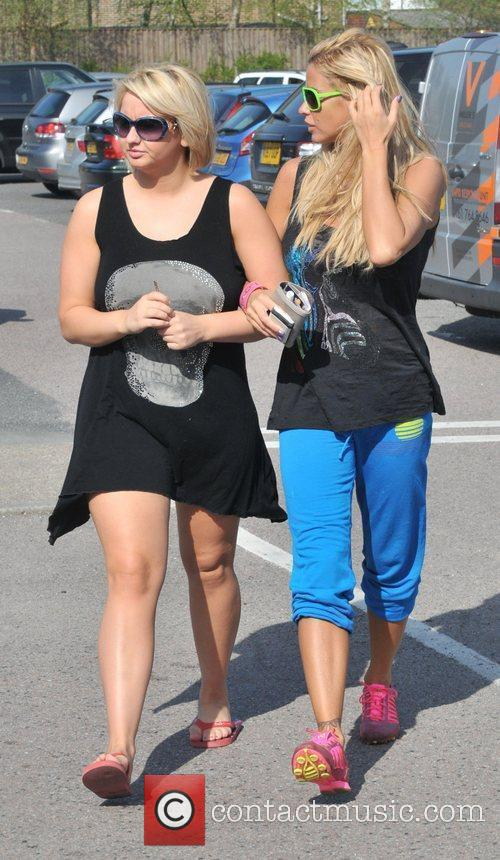 Katie Price goes shopping at Sainsburys with her...