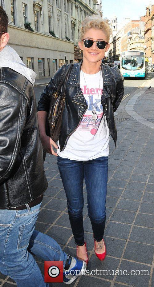 Katie Waissel  out and about in Liverpool...