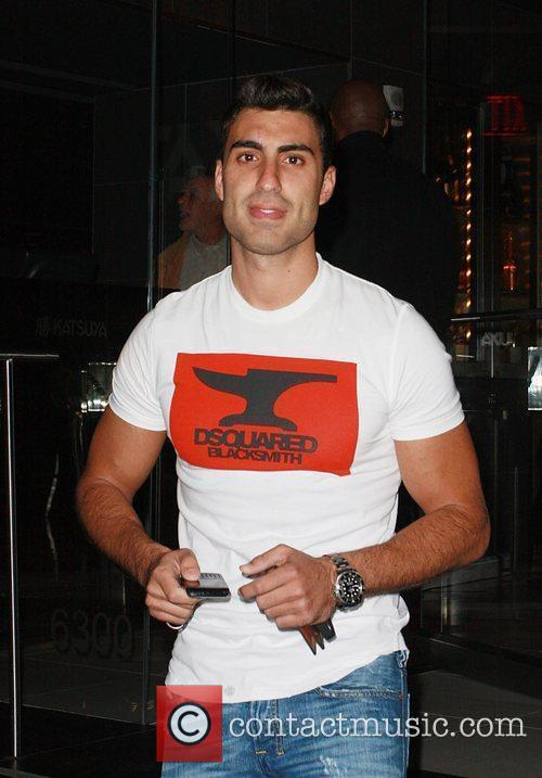 Mr. Arab 2008, Adam Sabbagh, outside Katsuya restaurant...