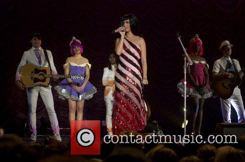 Katy Perry  performs during the opening night...