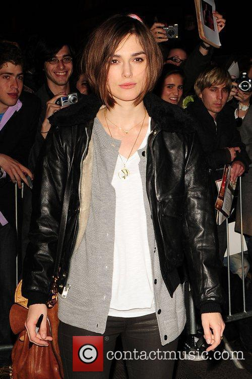 Keira Knightley leaving the Comedy Theatre after her...