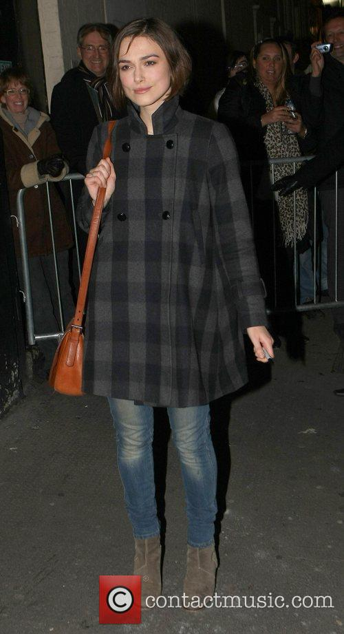 Leaves the Comedy Theatre after her performance in...