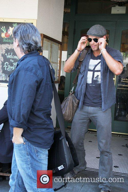 Twilight actor Kellan Lutz is seen leaving The...