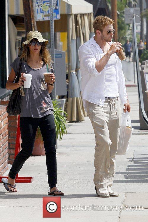 Kellan Lutz stops at Starbucks for an iced...