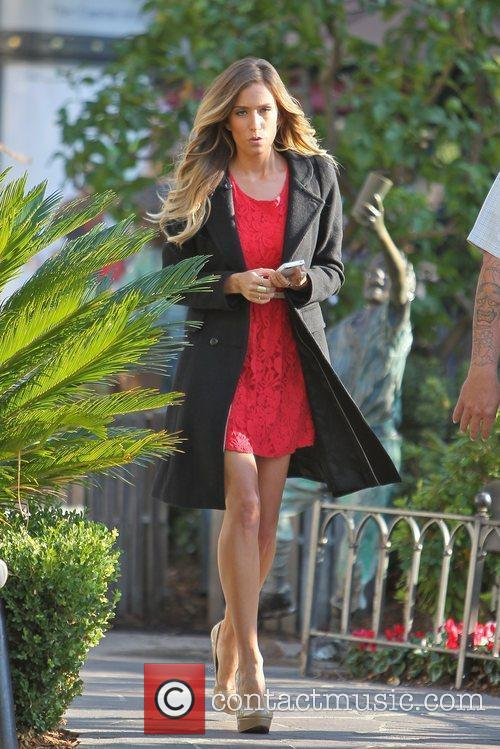 Renee Bargh  at The Grove to film...