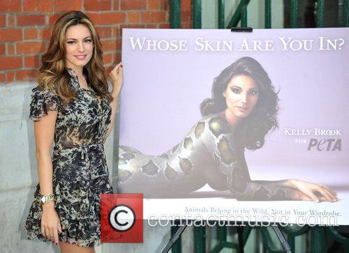 Kelly Brook unveils the new PETA's campaign 'Whose...