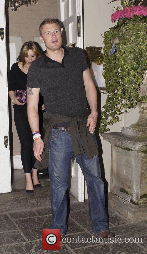 Andrew 'Freddie' Flintoff celebrities leaving an after party...