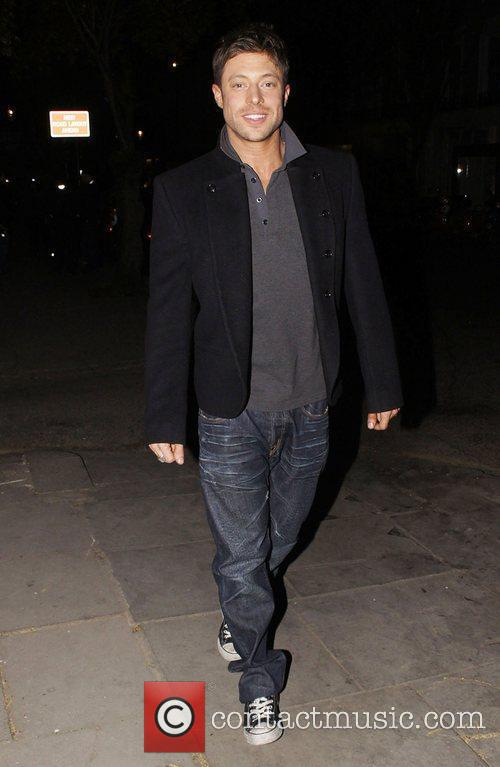 Duncan James celebrities leaving an after party for...
