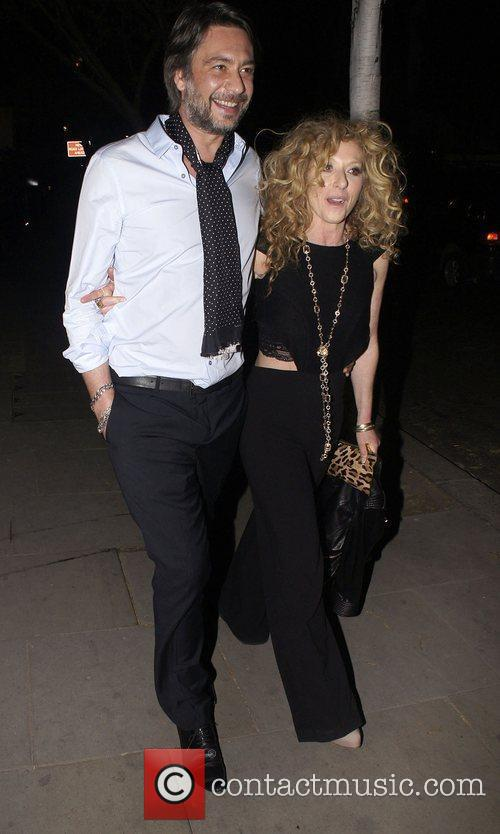 Kelly Hoppen  celebrities leaving an after party...