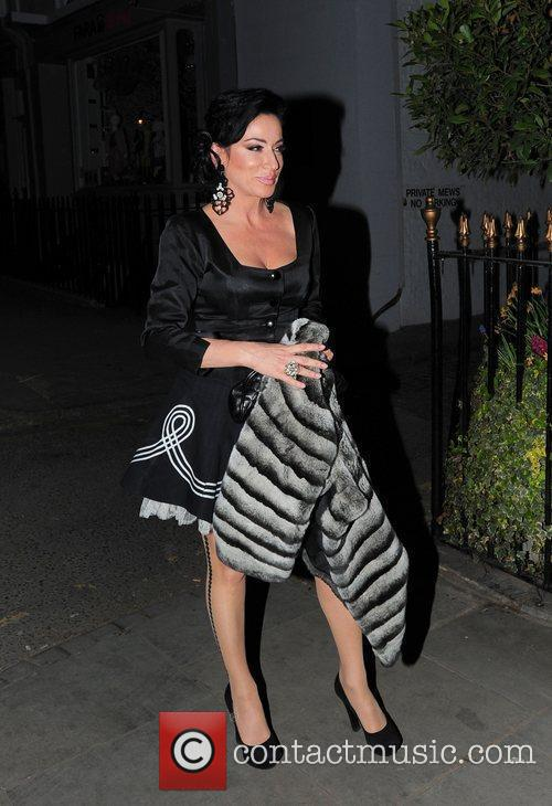 Nancy Dell'Olio celebrities leaving an after party for...