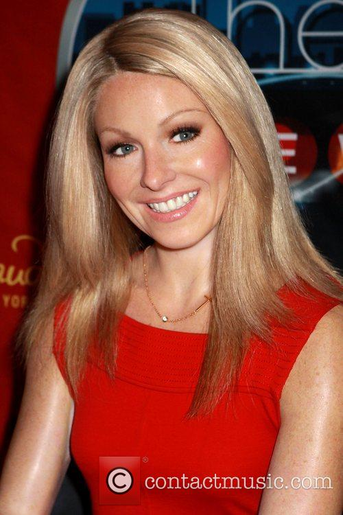 The waxwork of Kelly Ripa at Madame Tussauds...