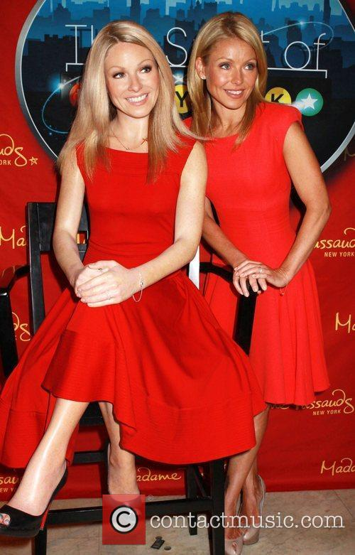 Kelly Ripa attends the unveiling of her waxwork...