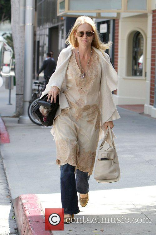 Kelly Rowan seen walking in beverly hills with...