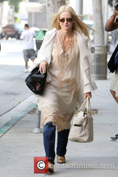 Kelly Rowan out and about walking in Beverly...