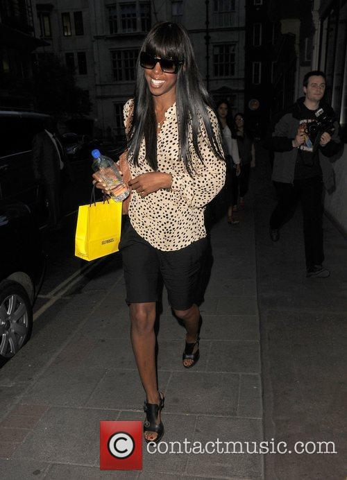 The 'X Factor' judge Kelly Rowland arrives at...