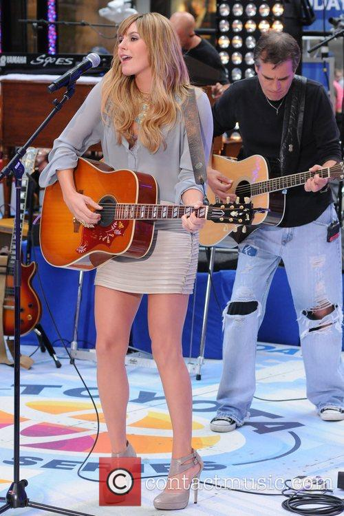 Grace Potter performing with Kenny Chesney live at...