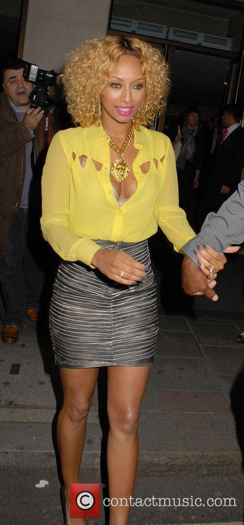 R&B singer Keri Hilson leaving The May Fair...
