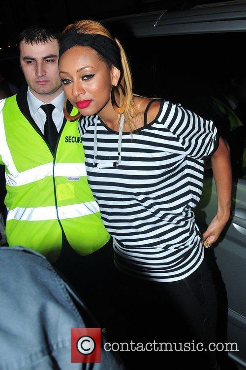 Arriving for her single launch party at Merah...