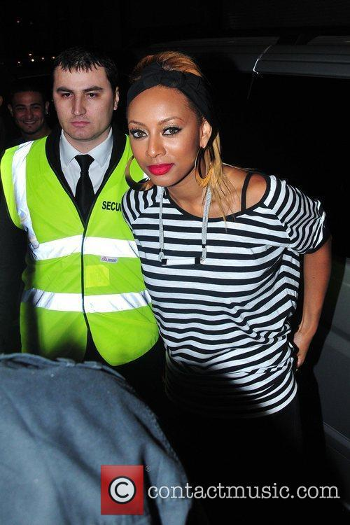Keri Hilson arriving for her single launch party...