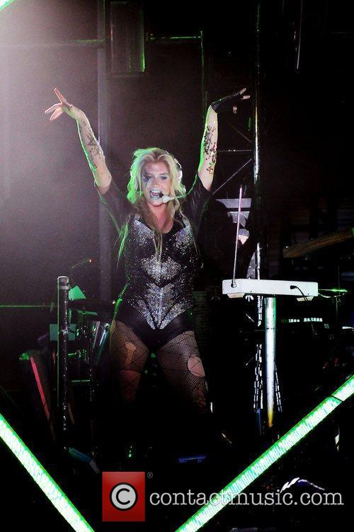 Performs as part of her 'Get Sleazy' tour...