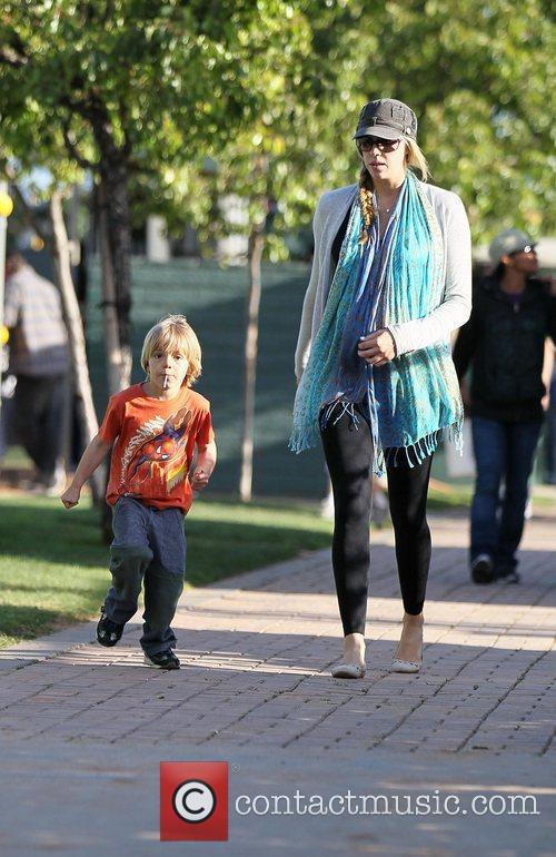 Victoria Prince walks with Jayden James Federline walk...