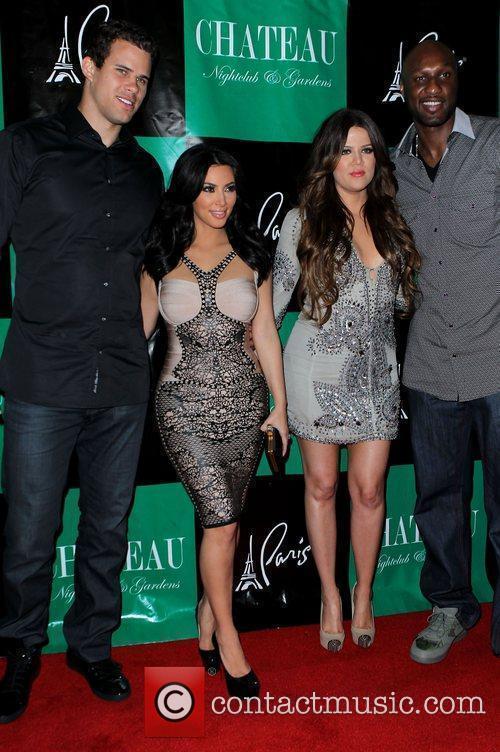 Kris Humphries, Khloe Kardashian, Kim Kardashian and Lamar Odom 2