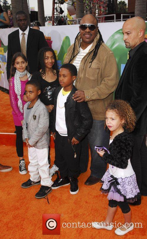 Steven Wonder and children Nickelodeon's 2011 Kids Choice...