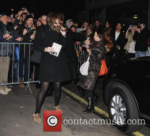 Leaving the Comedy Theatre after her performance in...
