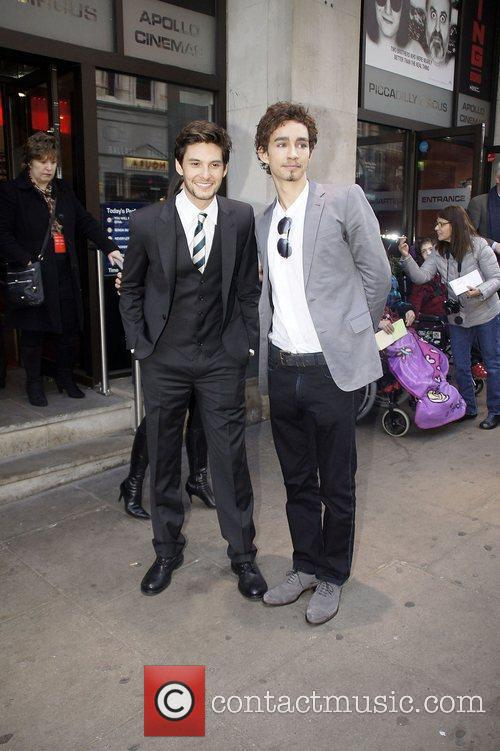 Robert Sheehan And Ben Barnes UK premiere of...