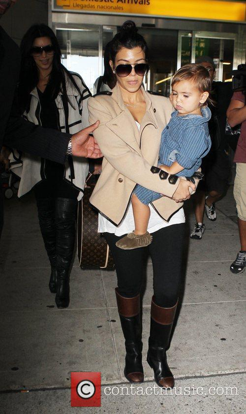 Kourtney Kardashian and Mason 6
