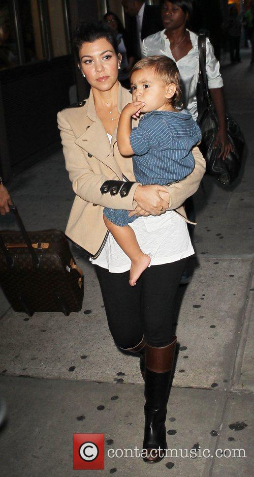 Kourtney Kardashian and Mason 4