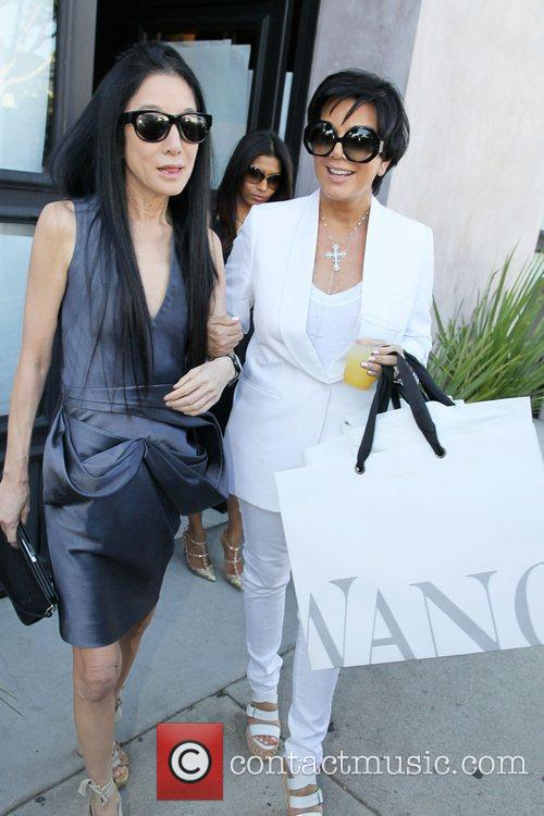 Kris Jenner and Vera Wang exit the Vera...