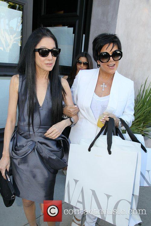 Kris Jenner and Vera Wang exit the Vera...