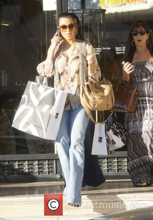 Shopping at Barney's New York in Beverly Hills