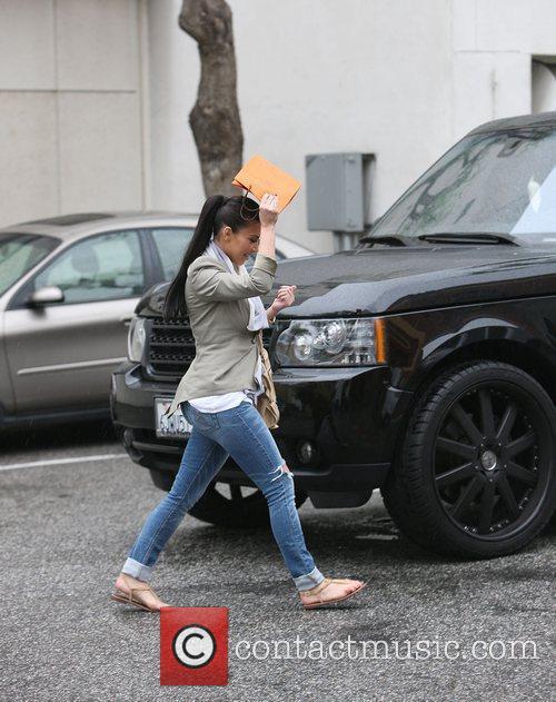 Kim Kardashian leaving a nail salon in Beverly...