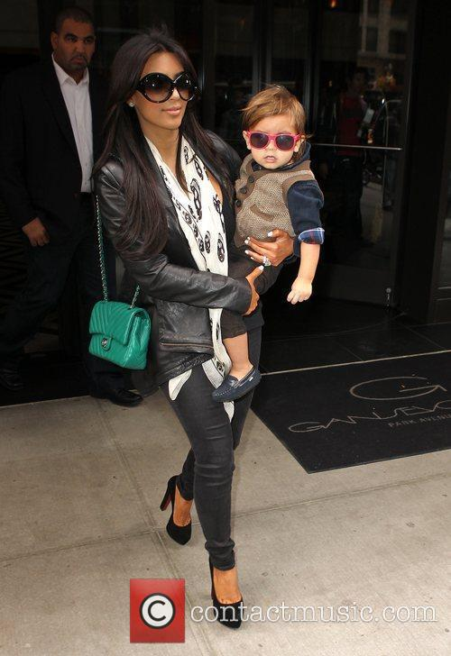 Kim Kardashian, Mason and Manhattan Hotel 2