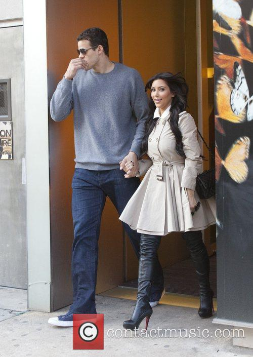 Kim Kardashian leaving the Alexander McQueen boutique with...
