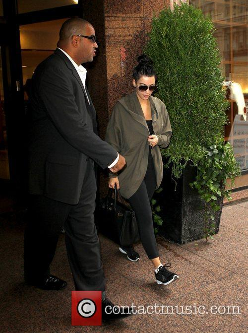 Kim Kardashian outside her hotel New York City,...