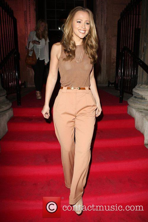 Kimberley Walsh leaving Catherine Walker & Co Blush...