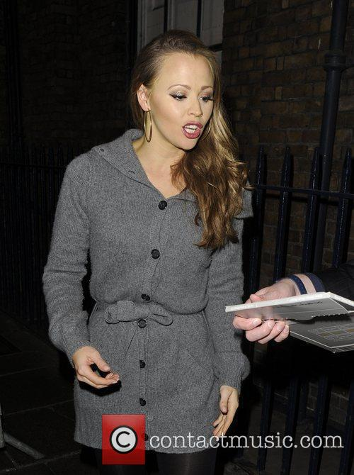 Kimberley Walsh and Shrek