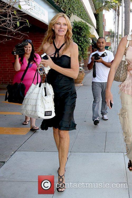 Kimberley Conrad (L) former Playboy model leaving Beverly...