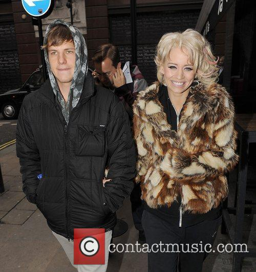 Kimberly Wyatt and her boyfriend Kevin Scmidt leaving...