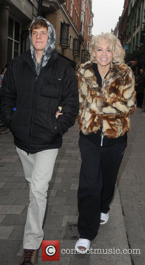 Kimberly Wyatt and her boyfriend Kevin Scmidt shopping...
