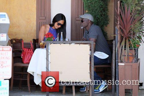 Kimora Lee Simmons and Djimon Hounsou 9